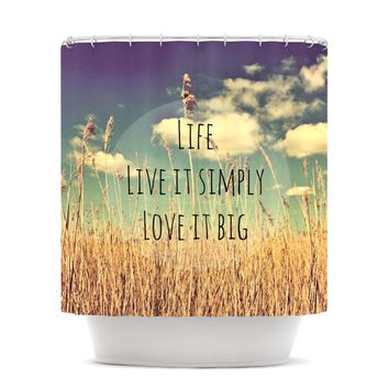 "Alison Coxon ""Life"" Shower Curtain"