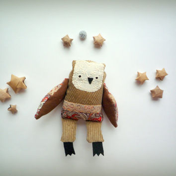 Stanley  -   Little  Owl, soft toy by Wassupbrothers