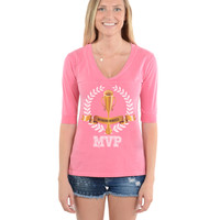 Morning Mimosa MVP - Football V-Neck Tee