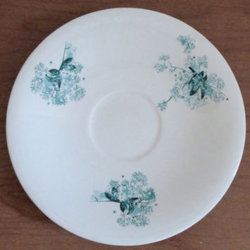 Vintage Eva Zeisel for Hallcraft Saucer -- Frost Flowers