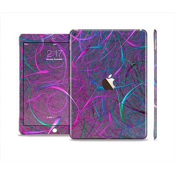 The Purple and Blue Electric Swirels Skin Set for the Apple iPad Air 2