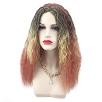 Halloween Cosplay Log Curly Synthetic Wigs High Temperature Fiber Hair For Halloween Costume Party