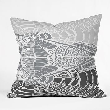 Karen Harris Post Modern Monochromatic Throw Pillow