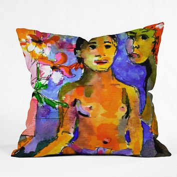 Ginette Fine Art Homage To Gaugin Tahiti Throw Pillow