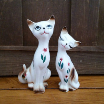 Vintage Cat Salt and Pepper Shakers Made in Japan