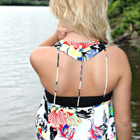 Tropical Oasis Tank - White