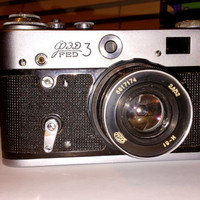 FED-3 35mm Soviet, USSR Rangefinder Film Camera (Copy Leica) + lens Industar 61