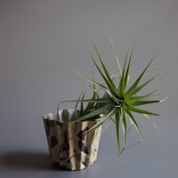 Kirsten Perry Agateware Ceramic Zig Zag Planter