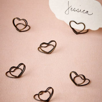 Heart Place Card Holders (6)