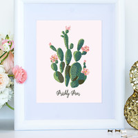 Prickly Pear Cactus Printable