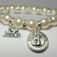 confirmation jewelry - confirmation gift - girl confirmation - love jesus - christian gift - confirmation present - handmade bracelet