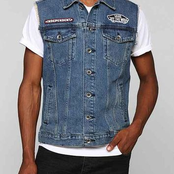 265e9a31a4e0e8 Vans x Independent Indy Denim Vest- Blue from Urban Outfitters