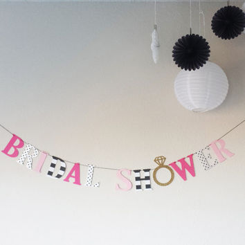 Bridal shower banner,Bachelorette banner, Kate Spade inspired!,bridal shower,kate bridal shower, bachelorette,gold ring banner