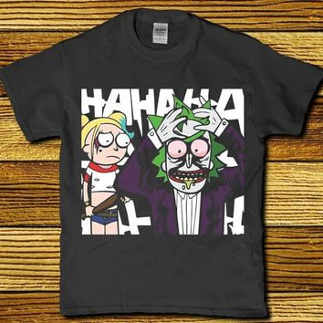 Hahaha Rick and Harley Quinn awesome unisex t-shirt