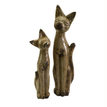 2 Decorative Figures - Egyptian Cat