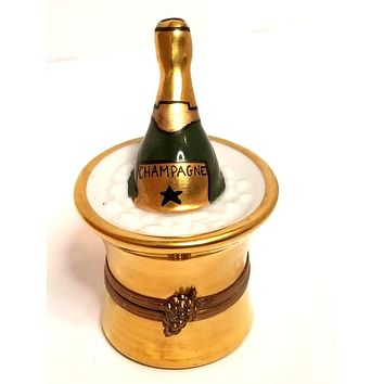 Gold Bucket of Champagne on Ice