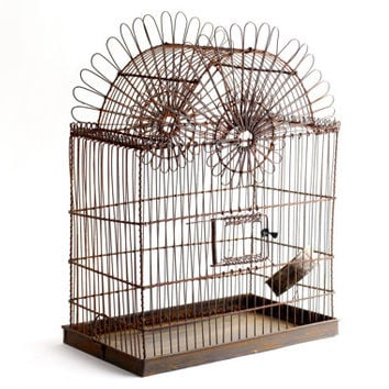 French Wire Birdcage - Large Vintage Bird Cage