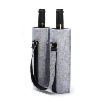 Hand Made Wine Bags Upscale Material Double Felt Red Wine Bag Of Wine Packaging Gift Bar Tools