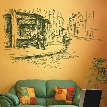 ik2685 Wall Decal Sticker France Paris street city hall bedroom