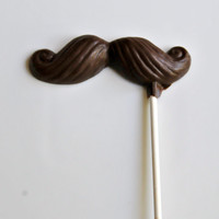 Chocolate Mustache Pops 6 pieces- Father's Day Gifts & Baby Shower Favors