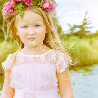 The Charlotte Flower Girl Dress in Blush Pink
