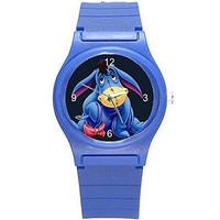 "Disney Winnie the Pooh "" Eyoore ""on a Blue Plastic Watch (girls or boys) [Watch]"