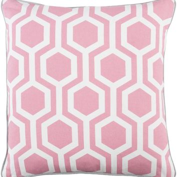 Torrance Toss Pillow PETAL PINK/GREY