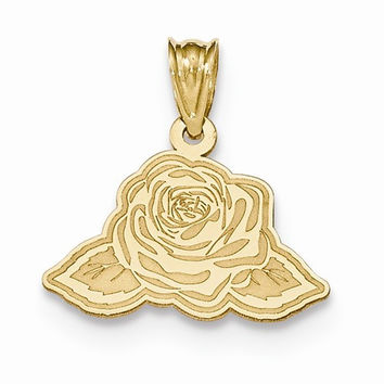 14k Yellow Gold Laser Cut Charm