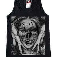"Women's ""Slayer"" Tank by Dip In Lively Apparel (Black)"