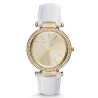 Darci Gold-Tone Leather Watch | Michael Kors
