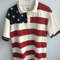 july 4th american flag polo usa shirt / medium