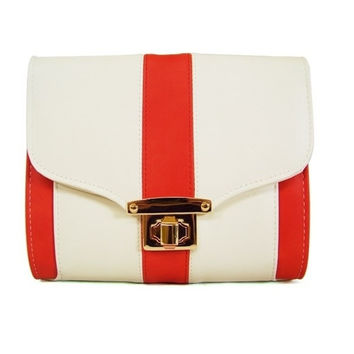 The Red Colorblock Designer Bag