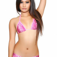 Snake Skin Print Short Set Pole Dancers Clothing