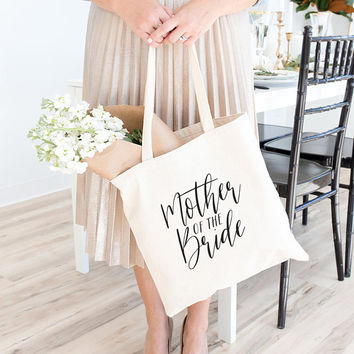 Mother of Bride Tote, Bridal Party Gift, Tote Bag, Canvas Bag, Canvas Tote Bag, Bridesmaid Tote, Bridal Tote, Wedding Tote, Bridesmaid Gift