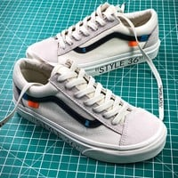 Off White X Vans Vault Og Style 36 Style 3 Low Canvas Shoes - Best Online Sale