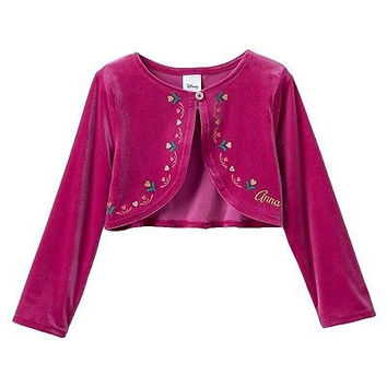 Disney's Frozen By Jumping Beans Anna Pink Long Sleeve Shrug Size 4T $24 NWT