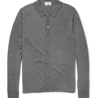 Acne - Clissold Fine-Knit Wool Polo Shirt | MR PORTER
