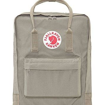 Fjallraven Kanken Durable Backpack Unisex Lovers' School Travel Bag( Fog )