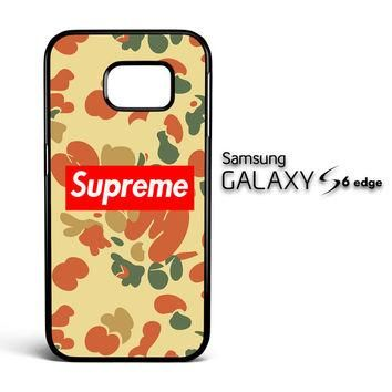 supreme camo V1633 Samsung Galaxy S6 Edge Case
