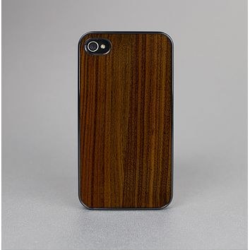 The Dark Walnut Wood Skin-Sert for the Apple iPhone 4-4s Skin-Sert Case