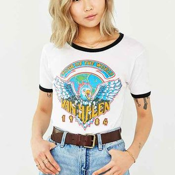 Van Halen World Tour Ringer Tee