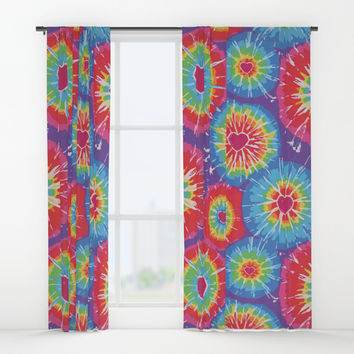 Love Tye Dye Window Curtains by Cr8tv Designs