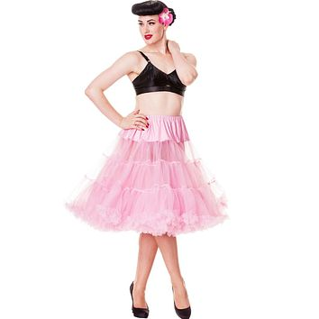 "Hell Bunny Plus Pink Full Volume Petticoat 27"" Length (3XL - 5XL)"