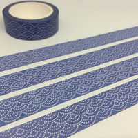 blue tape 10M blue wave washi tape traditional japanese pattern deco tape blue color removable adhesive tape rice tape scrapbook gift
