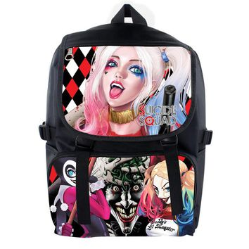 Suicide Squad Harley Quinn Backpack For Teenagers Boys Girls School Bags Student Travel Bag Nylon Waterproof Shoulder Backpacks