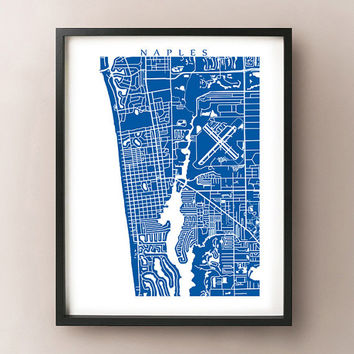 Naples, FL Map Print - Florida Poster