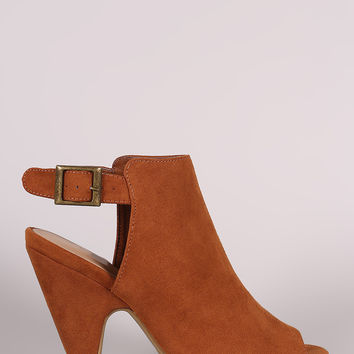 Bamboo Suede Mule Tapered Heel