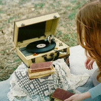 Vintage Record Player Film Photograph