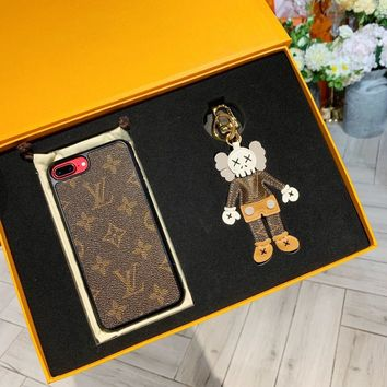 Kaws x Louis Vuitton LV Key Holders And Phone Case For Iphone 6 6s 7 7plus 8 8plus X XR XS - Best Online Sale
