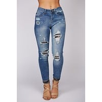 Jocelyn Distressed Skinny Jeans (Medium Wash)